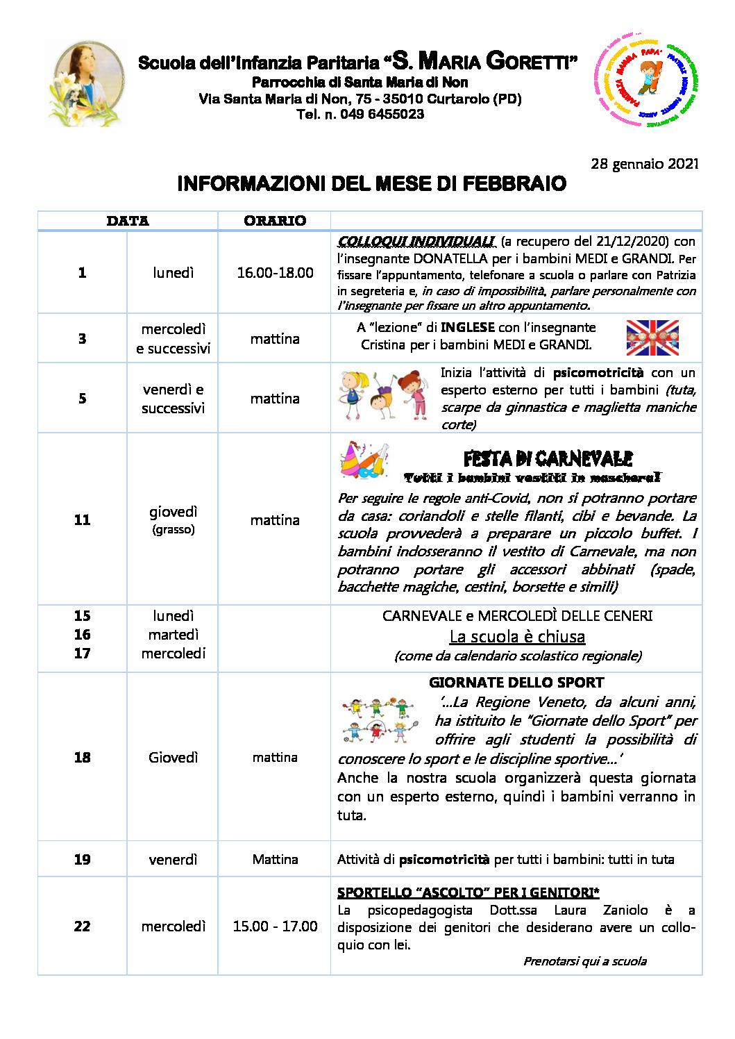 thumbnail of Informazioni ai genitori FEBBRAIO 2021