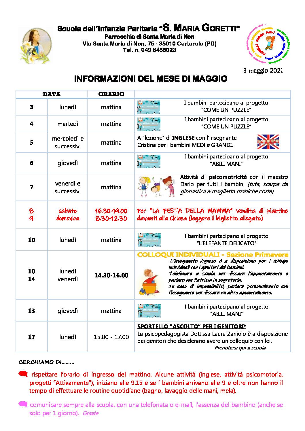 thumbnail of Informazioni ai genitori MAGGIO 2021