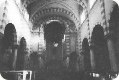 la navata prima del restauro